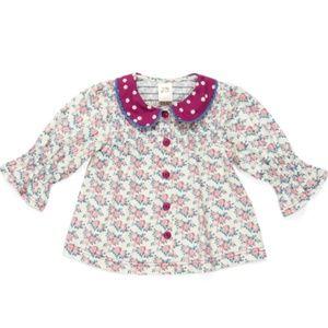 NWOT Wildflowers Clothing Primrose Blouse 18m